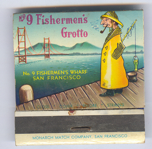 Fisherman's Wharf matchbook cover