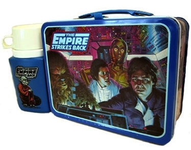 """Star Wars"" films such as ""The Empire Strikes Back"" from 1980 were a boon to manufacturers of lunch boxes."