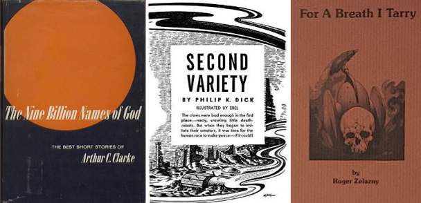 The Wilson reading list includes short stories by Arthur C. Clarke, Philip K. Dick, and Roger Zelazny.