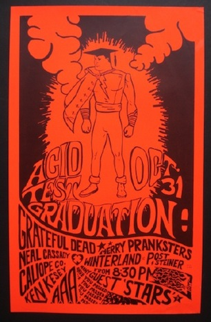 Seen Here Are Two Rare Posters That Being Auctioned This Weekend The Image On Left Was Designed By Wes Wilson Who Created For Beatles