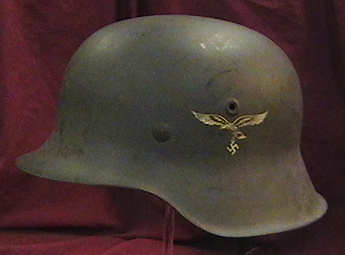 6. Nazi military pieces, such as this Luftwaffe M-42 helmet, are popular among World War II history collectors.