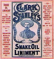Clark Stanley's Snake Oil Liniment.