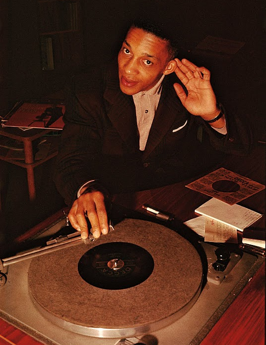 Malcolm Dodds, seen here at WERE studios in January, 1959, represents a link between Sam Cooke and Marvin Gaye.