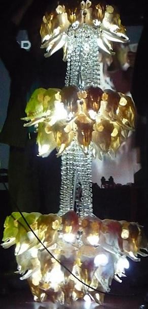 Ian Mehr's goat-skull chandelier