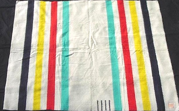 "A vintage Hudson Bay Trading Company Four-Point ""chief's blanket."""