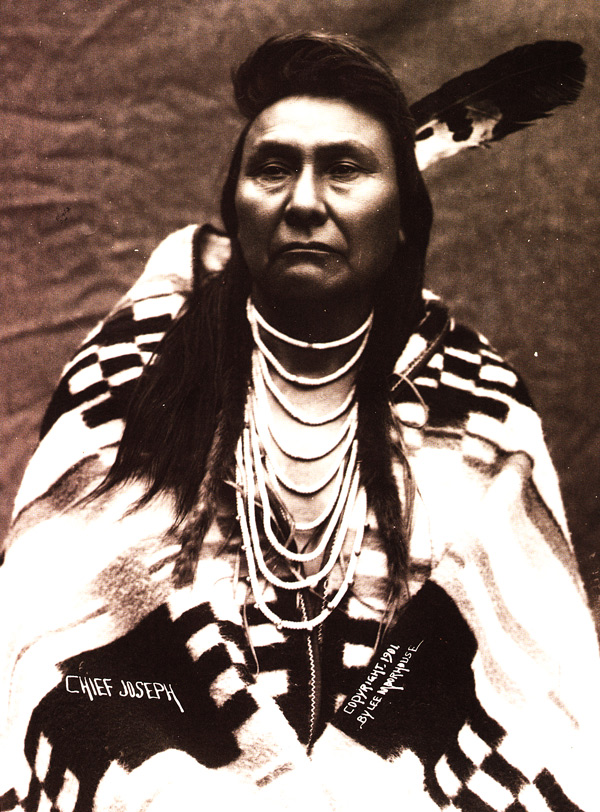 a2ce0cc79 Chief Joseph wears a Pendleton blanket in 1901. He is famous for leading a  long