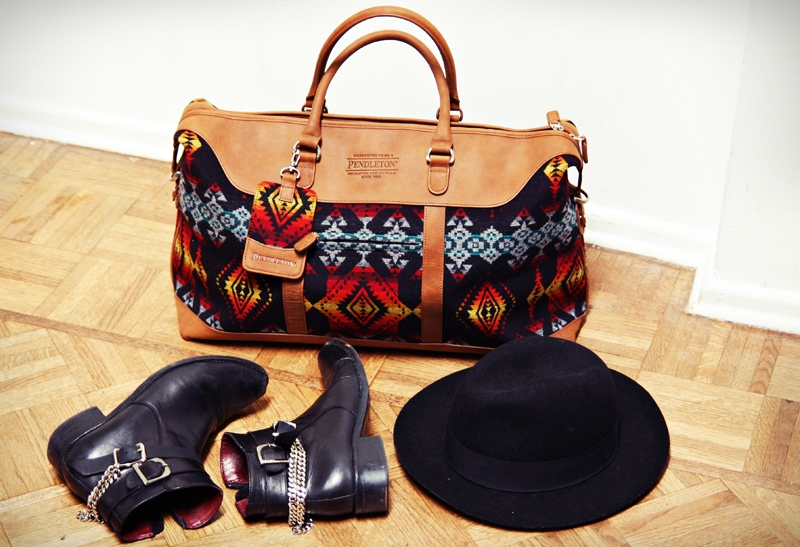 "This Pendleton travel bag sells for $180 at Urban Outfitters, a clothing retailer that has recently enraged Native American bloggers with its own offensive ""Navajo"" line, which has now been renamed."