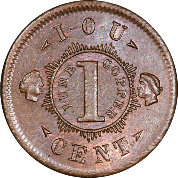 Some clever die sinkers got around potential charges of counterfeiting by positioning their coins as IOUs.