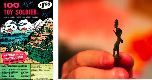 """Unlike normal toy soliders, the soldiers sold in comic books fell flat. Images via """"Mail-Order Mysteries"""""""