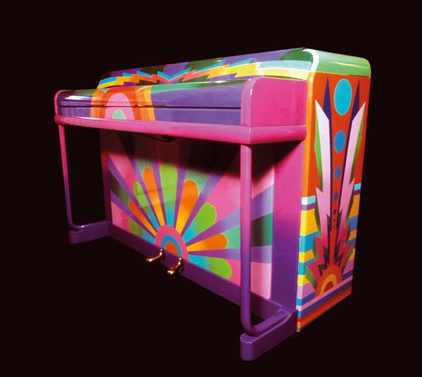 "Paul McCartney wrote ""Hey Jude"" and other hits on a piano painted by the design group Binder, Edwards & Vaughn."