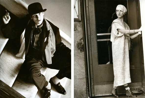 In 1984, Salamon was featured in a New York magazine fashion spread. Left, she's wearing a red, black, and white Charlie Chaplin look. Right, she's wearing a '20s-style dress and hat hand-made for her from contemporary Carolina Herrera fabric. Photos by Cheryl Koralik.
