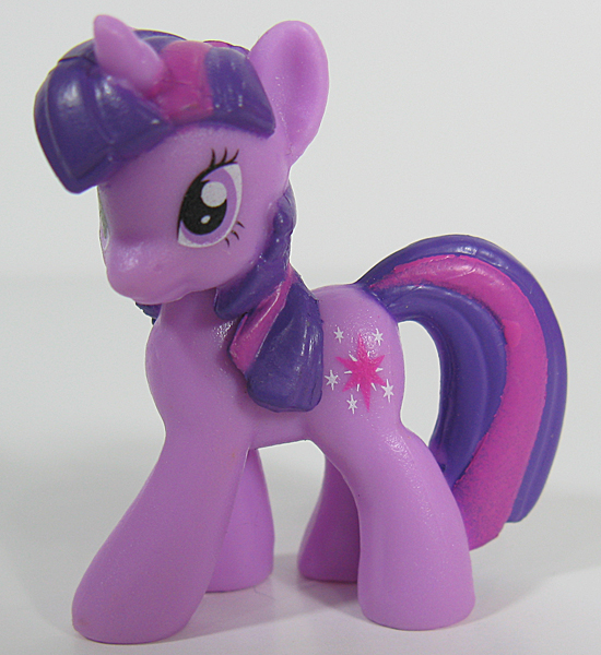 This smaller Blind Bag version of Twilight Sparkle is more appealing to bronies: She looks more like the cartoon character, and you don't have to comb her hair.