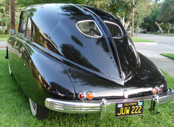 The Tatra's dorsal fin is designed to channel air into the car's engine compartment.