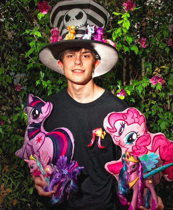 A Portland-area brony flaunts his collection of the current, fourth generation of My Little Pony. Image by Thomas Boyd/The Oregonian