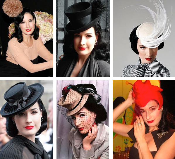 8ddd6e07e02 Above  Von Teese wears her antique hats out and about. Below  Her collection