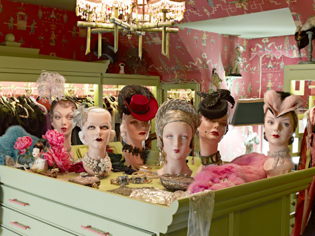 Von Teese's hat collection is so large, it takes up a full room in her home. Photo by Douglas Friedman.