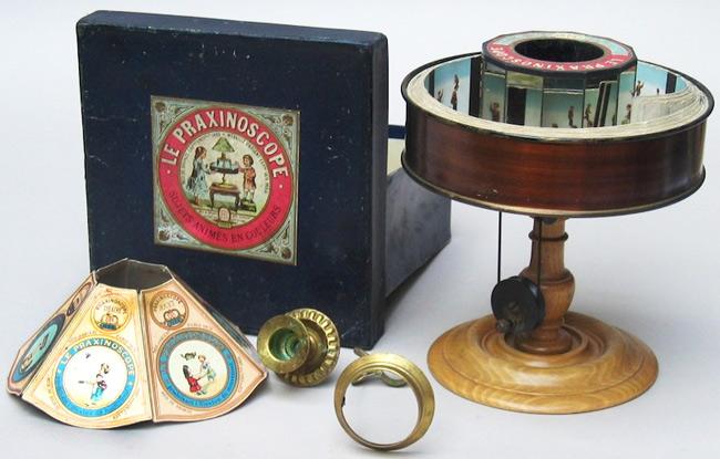 Émile Reynaud's Praxinoscope, c. 1889.
