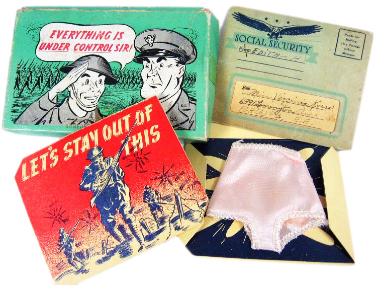 The USPS made delivering gag boxes to the soldiers abroad a priority during WWII.