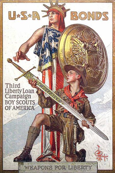lady-liberty-war-bonds 1918