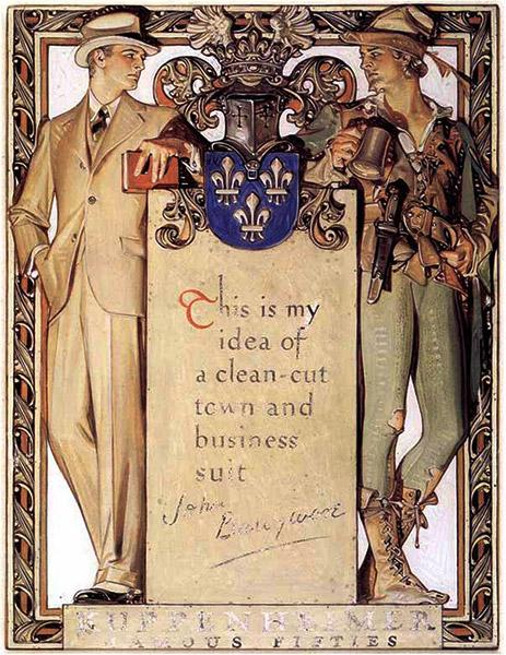 Kuppenheimer advertisement for John Barrymore suits, 1927