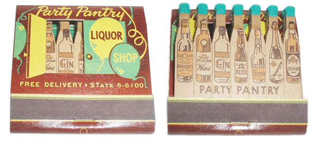 Since smoking and drinking went hand-in-hand, booze was a popular subject. Photos by Frank Kelsey.