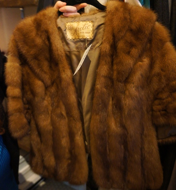 A pre-1959 fur shrug from the company that made Davy Crockett caps. Photo by Megan Bre Camp.