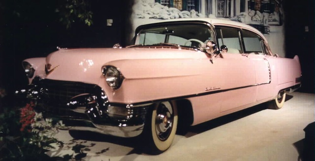 While Elvis had a 1955 Cadillac Fleetwood painted pink as a gift for his mama, he ended up driving it.