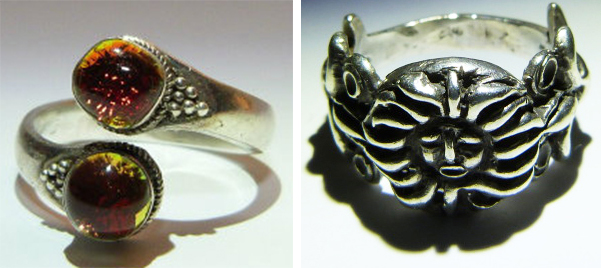 """The maker of these """"demon rings"""" claims to be a practitioner of black magic who has imbued them with spirits known as """"djinns,"""" or genies."""