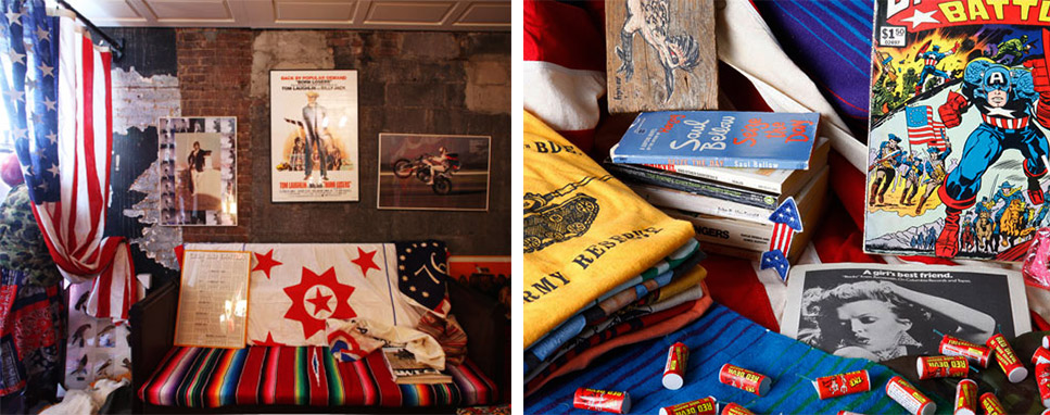 Carroll's first pop-up shop at Billy Reid showcased a variety of vintage items.