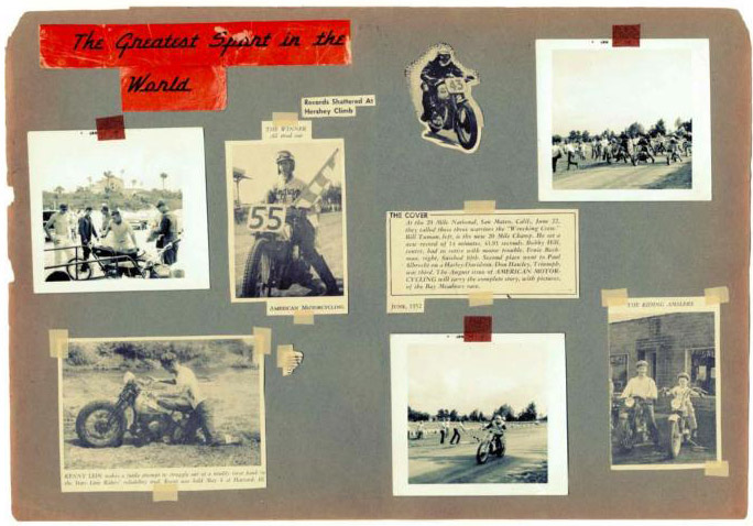 The 2012 Fall/Winter Lookbook for Levi's Vintage Clothing line featured vintage imagery of motorcyclists.