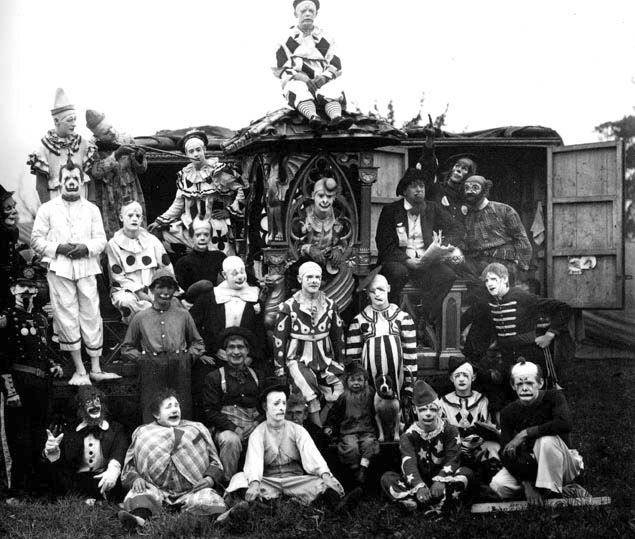 This merry band of circus performers looks more like a bloodthirsty gang.
