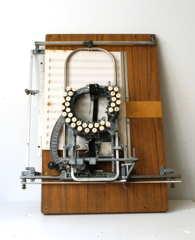 Any typewriter fan drools over this rare 1936 Keaton Music Typewriter, meant for creating musical scores. Via Neatorama.