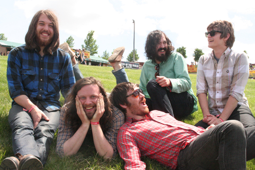 The Fleet Foxes have the long hair, beards, and hippie harmonies of '60s and '70s folk rock. Credit: Sub Pop Records.