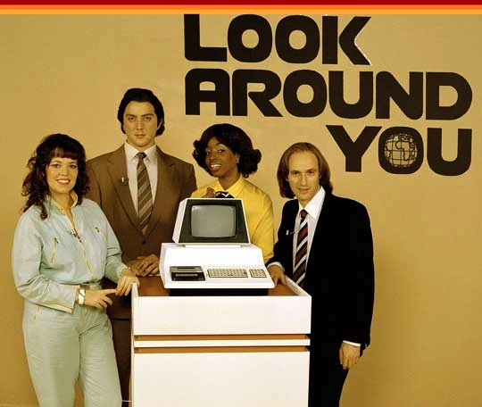 "The BBC show ""Look Around You,"" from 2002-2005, replicated stilted '70s educational programs, down to the bad hairdos. Credit: BBC."