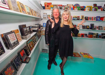 Chris Frantz and Tina Weymouth at the Dallas Eight Track Museum opening in 2011. Photo by Dan Hurley.