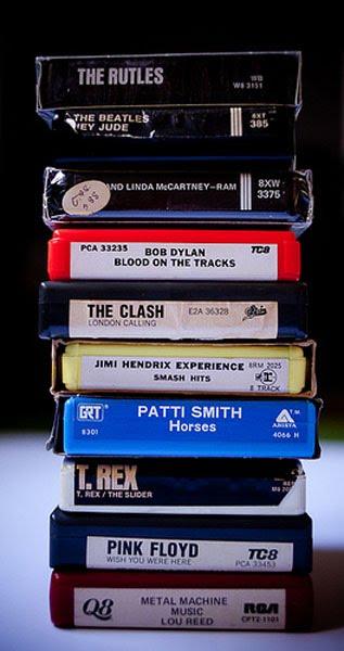 Black Case 8 Track Lot 16 Cassettes Music
