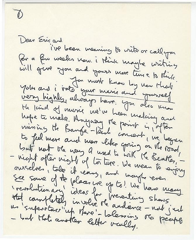 the john lennon letters lennon s oddly patronizing letter to eric clapton up 13891 | Lennon 1