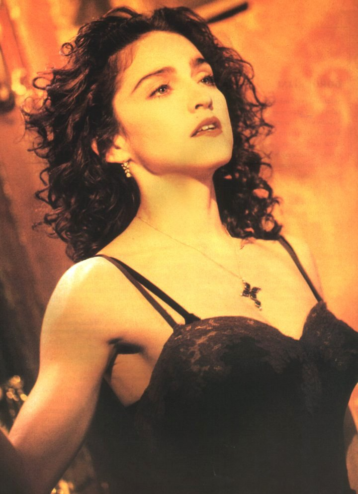 "Madonna famously wore a black slip in her 1989 video for ""Like a Prayer."""