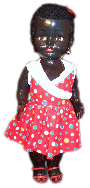 The Walking African Girl, made by Pedigree of England in 1950s. Photo by Debbie Behan Garrett.