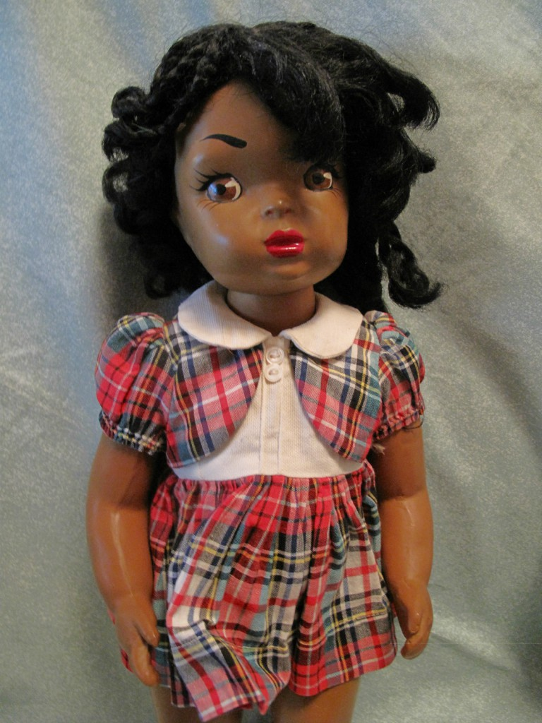 Patty-Jo was a black version of the popular hard plastic doll Terri Lee made by the Terri Lee Doll Company between 1947 and 1949.