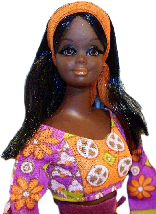 A 1971 Live Action Christie. Barbie's black friend, Christie, made her debut in 1968. She was probably made from a mold of Barbie's white friend Midge. Photo by Debbie Behan Garrett.