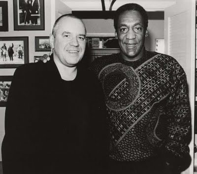 Van Den Akker and Cosby together in the 1980s.