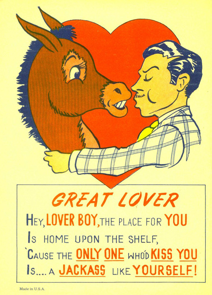 Happy Valentines Day I Hate You Collectors Weekly - Funny postcards insult your enemies in the cutest way possible