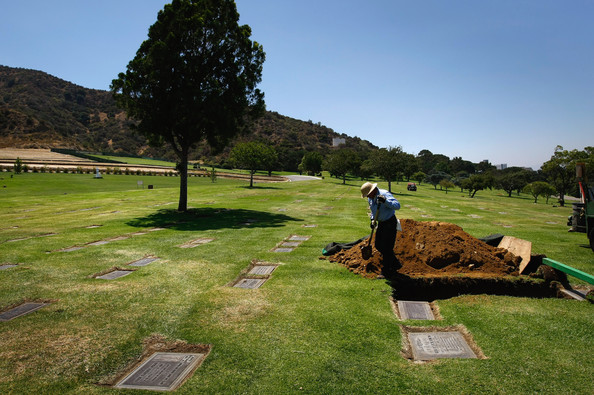 A contemporary view of Forest Lawn cemetery, where celebrities like Michael Jackson and Elizabeth Taylor have been buried.
