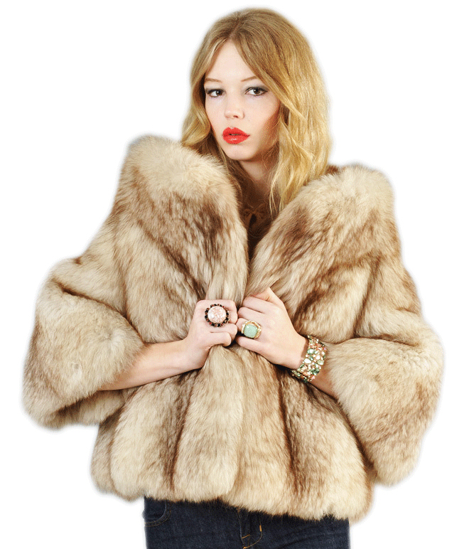 5a7e50342 Bustown Modern just sold this cropped jacket, made of arctic fox fur.  (Courtesy