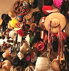 A glimpse inside Dr. Seuss' hat closet. (Courtesy of the Dr. Seuss Estate)