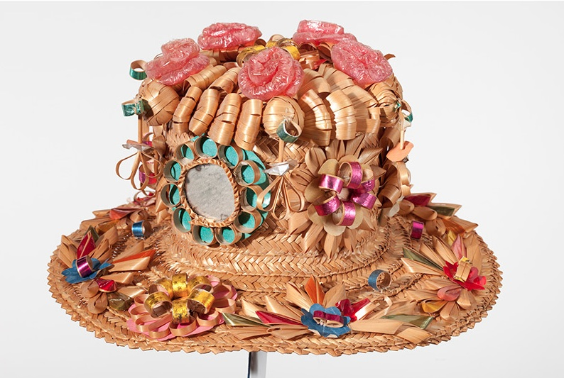 "A straw curls hat shown in ""Hats Off to Dr. Seuss."" (Courtesy of the Dr. Seuss Estate)"