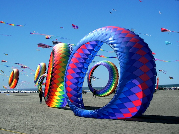 Richard and Marti Dermer go to the Washington State International Kite Festival in Long Beach, Washington, as often as they can. Photo by Spence Photo Design, via SouthwestWashingtonZest.com