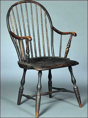 This 18th Century American Bow Back Windsor Armchair Sold For Nearly $5,000  At Skinner Auction