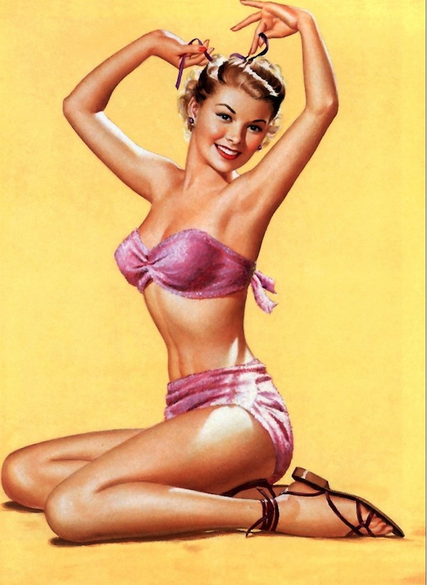 "A Frush pin-up captures the sweetness of the ""all-American girl."""